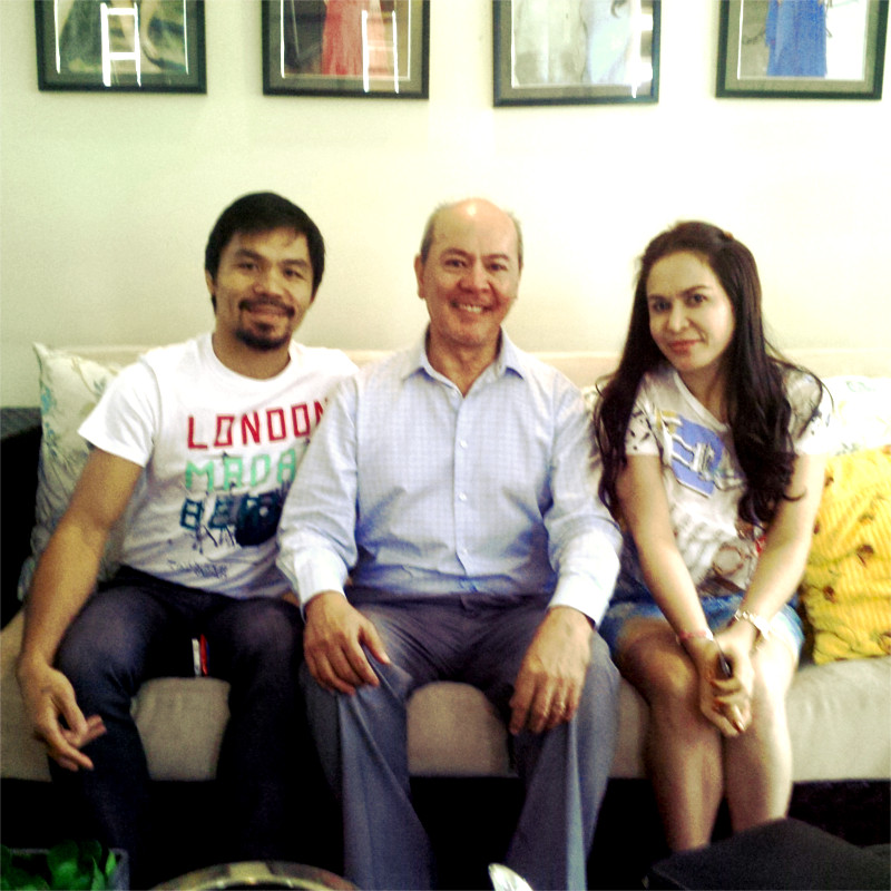 Vic Alcuaz with Boxing Legend Manny Pacquiao and Entrepreneur Wife Jinkee