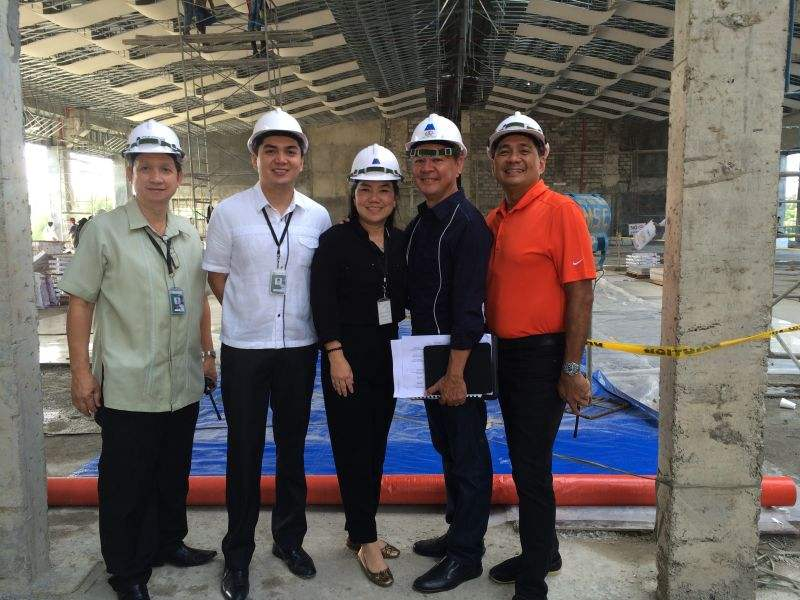 The biggest convention center in Zamboanga City - Marcian officers from left: Kenny Basa, Executive Assistant to the President & CEO; Ian Verar, General Manager In-Training; Lanie Verar, Executive Vice President; Vic Alcuaz and Gerry Verar, President & CEO